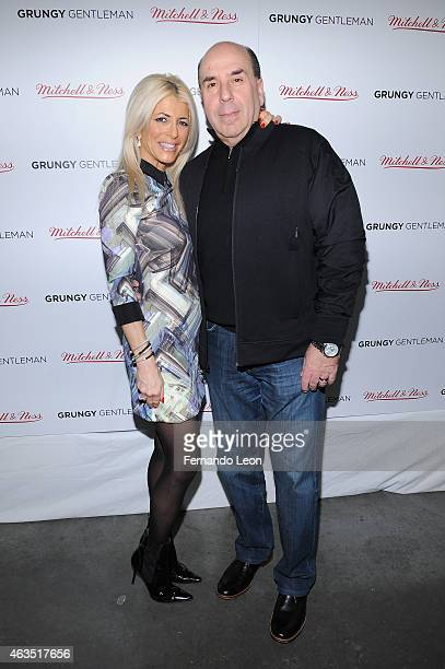 Meryl Lipstein and Barry Lipstein pose at the Grungy Gentleman presentation during MercedesBenz Fashion Week Fall 2015 at Pier 59 Studios on February...
