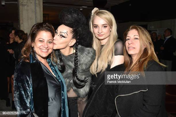 "Meryl Poster, Susanne Bartsch, Kim Petras and Linda Carbone at The Cinema Society & Bluemercury host the after party for IFC Films' ""Freak Show"" at..."
