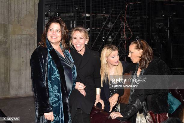 Meryl Poster Trudie Styler Samantha Perelman and Donna Karan attend The Cinema Society Bluemercury host the after party for IFC Films' Freak Show at...