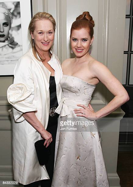 Meryl Streep and Amy Adams attend the pre film drinks for 'Doubt' at Brown's Hotel on January 16 2009 in London England