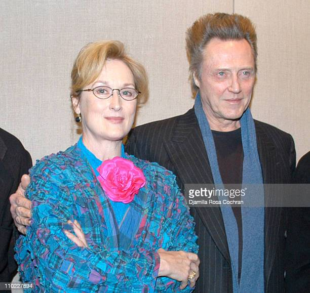Meryl Streep and Christopher Walken during The Film Society of Lincoln Center's Walter Reade Theater Presents 'Inventing Christopher Walken' at...