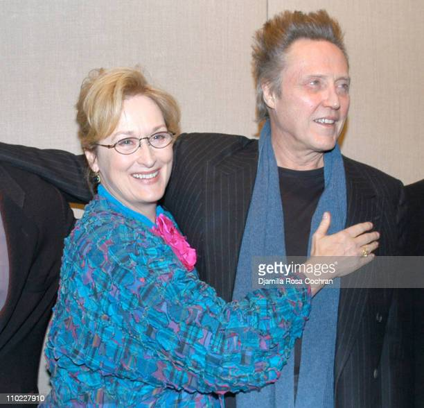 Meryl Streep and Christopher Walken during The Film Society of Lincoln Center's Walter Reade Theater Presents Inventing Christopher Walken at Walter...