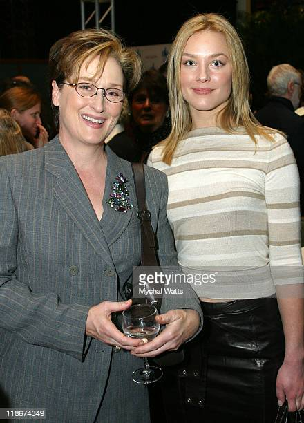 Meryl Streep and Elisabeth Rohm during 2003 Muse Awards for Outstanding Vision and Achievement at New York Hilton Hotel in New York City New York...