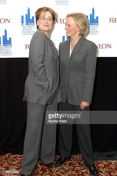 Meryl Streep and Glenn Close during 2003 Muse Awards for Outstanding Vision and Achievement at New York Hilton Hotel in New York City New York United...