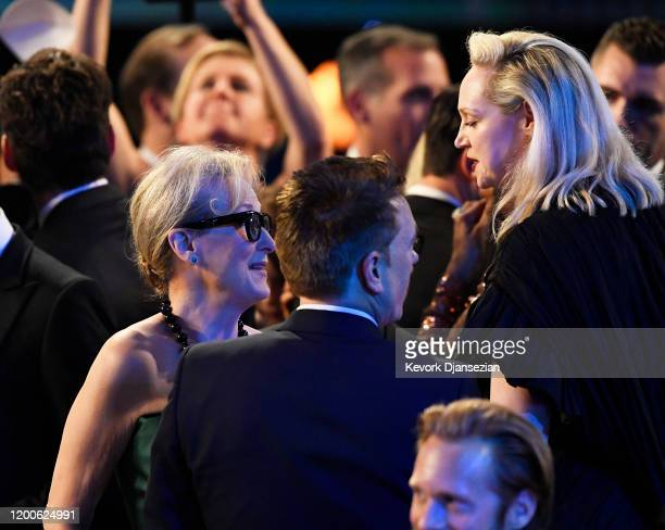 Meryl Streep and Gwendoline Christie attend the 26th Annual Screen ActorsGuild Awards at The Shrine Auditorium on January 19 2020 in Los Angeles...