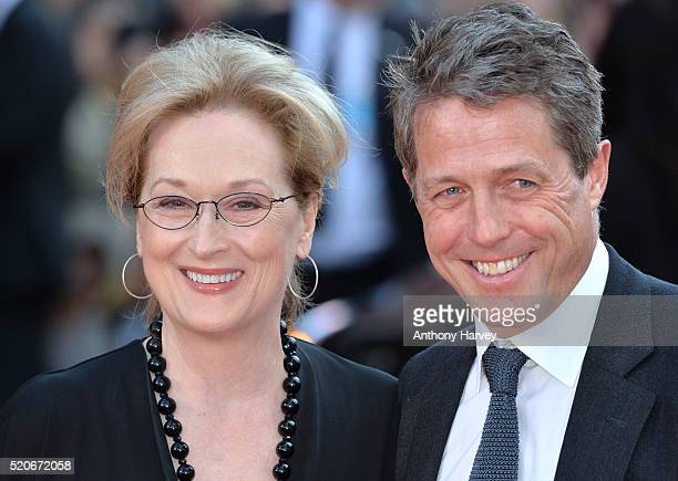 Meryl Streep and Hugh Grant attend the World film premiere of Florence Foster Jenkins at Odeon Leicester Square on April 12 2016 in London England