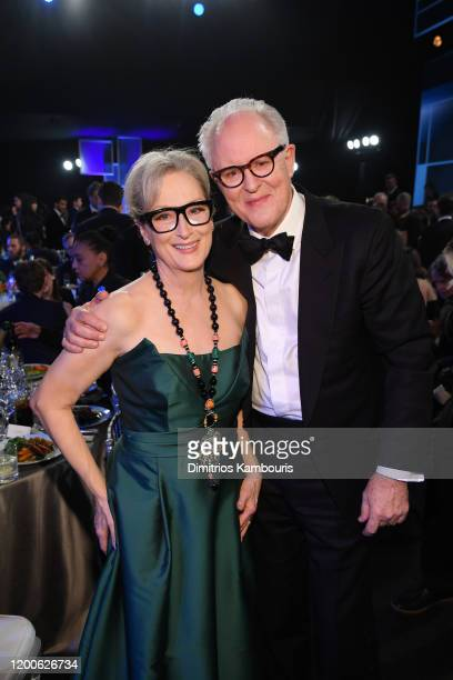 Meryl Streep and John Lithgow attend the 26th Annual Screen ActorsGuild Awards at The Shrine Auditorium on January 19 2020 in Los Angeles California...