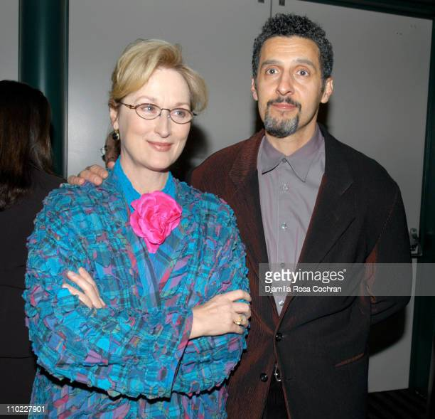 Meryl Streep and John Turturro during The Film Society of Lincoln Center's Walter Reade Theater Presents Inventing Christopher Walken at Walter Reade...