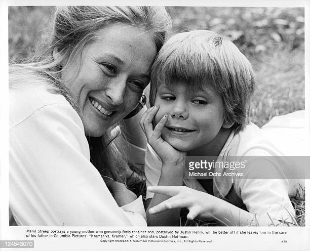 Meryl Streep and Justin Henry as mother and son in a scene from the film 'Kramer vs Kramer' 1979