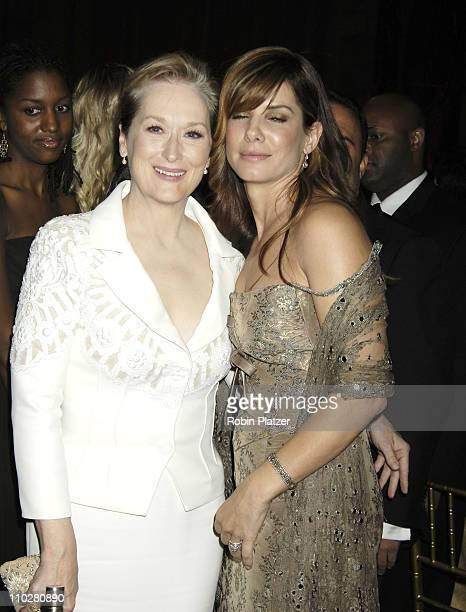 Meryl Streep and Sandra Bullock during Fashion Group International Presents the 22nd Annual Night of Stars Honoring 'The Romantics' Inside at...