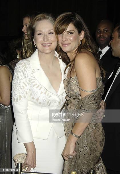 Meryl Streep and Sandra Bullock during Fashion Group International Presents the 22nd Annual Night of Stars Honoring 'The Romantics' Inside at...