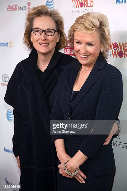 Meryl Streep and Tina Brown attend Women in the World Summit 2013 on April 4 2013 in New York United States