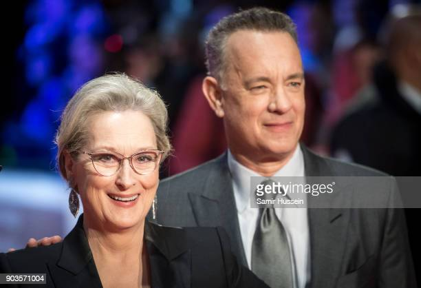 Meryl Streep and Tom Hanks attend 'The Post' European Premeire at Odeon Leicester Square on January 10 2018 in London England