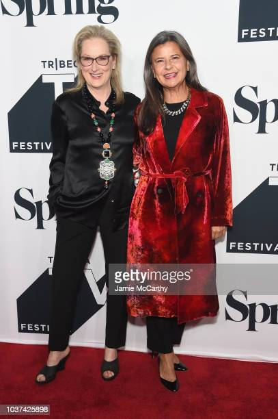 Meryl Streep and Tracy Ullman attend the Tracey Ullman's Show Season 3 Premiere for the 2018 Tribeca TV Festival at Spring Studios on September 21...