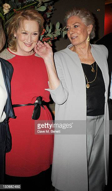 Meryl Streep and Vanessa Redgrave attend the Academy of Motion Picture Arts and Sciences' first European salute to actress Vanessa Redgrave at The...