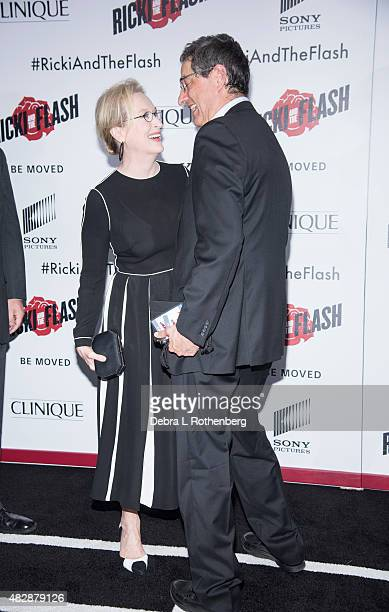 Meryl Streep arrives at the New York premiere of Ricki And The Flash at AMC Lincoln Square Theater on August 3 2015 in New York City