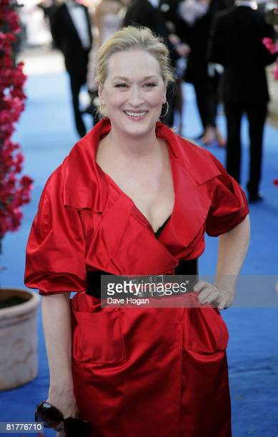 Meryl Streep arrives at the UK premiere of 'Mamma Mia' at the Odeon cinema Leicester Square on June 30 2008 in London England
