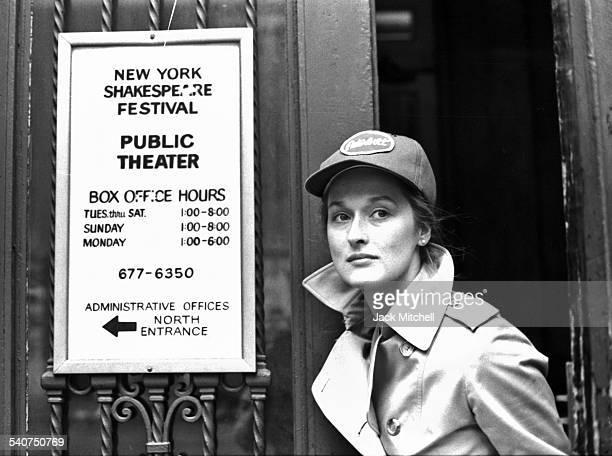Meryl Streep at Joseph Papp's Public Theater in January 1979.