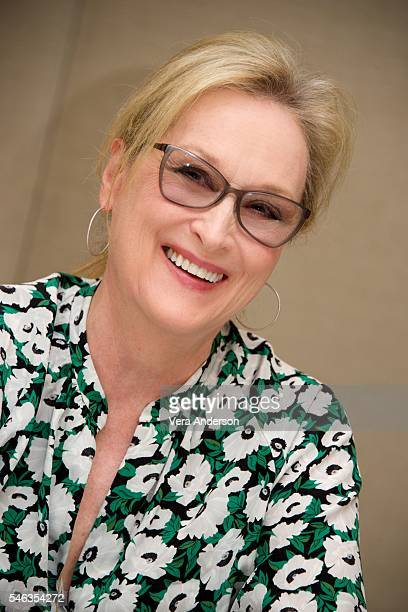 Meryl Streep at the Florence Foster Jenkins Press Conference at the Conrad Hotel on July 11 2016 in New York City