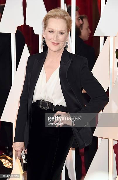 Meryl Streep attend the 87th Annual Academy Awards at Hollywood & Highland Center on February 22, 2015 in Hollywood, California.