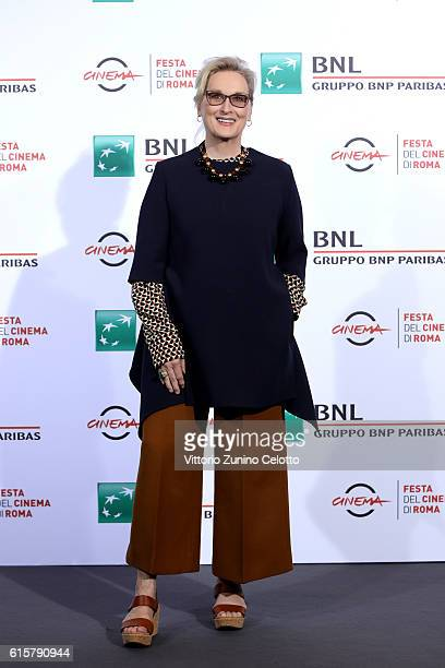 Meryl Streep attends a photocall for 'Florence Foster Jenkins' during the 11th Rome Film Festival at Auditorium Parco Della Musica on October 20,...