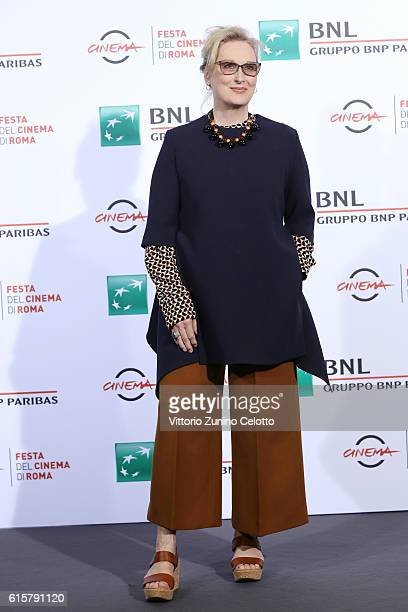 Meryl Streep attends a photocall for 'Florence Foster Jenkins' during the 11th Rome Film Festival at Auditorium Parco Della Musica on October 20 2016...