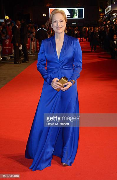 Meryl Streep attends a screening of 'Suffragette' on the opening night of the BFI London Film Festival at Odeon Leicester Square on October 7 2015 in...
