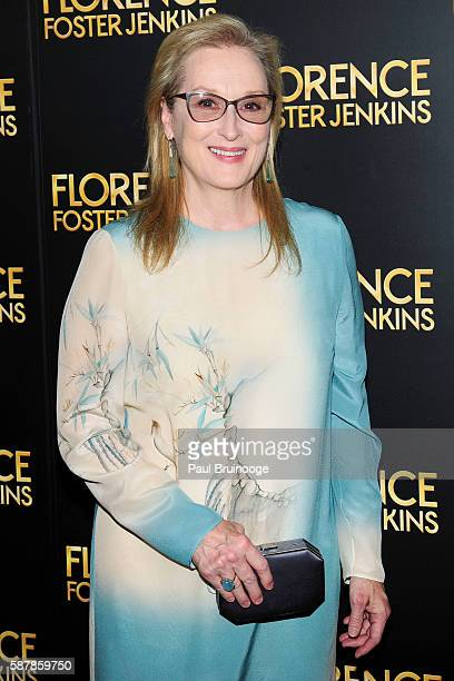 "Meryl Streep attends Paramount Pictures Presents the New York Premiere of ""Florence Foster Jenkins"" at AMC Loews Lincoln Square 13 theater on August..."