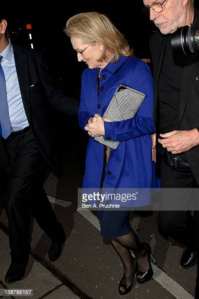 Meryl Streep attends preBAFTA dinner hosted by Charles Finch and CHANEL at Annabels on February 11 2012 in London England