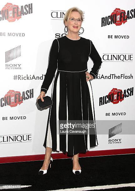 Meryl Streep attends 'Ricki And The Flash' New York Premiere at AMC Lincoln Square Theater on August 3 2015 in New York City