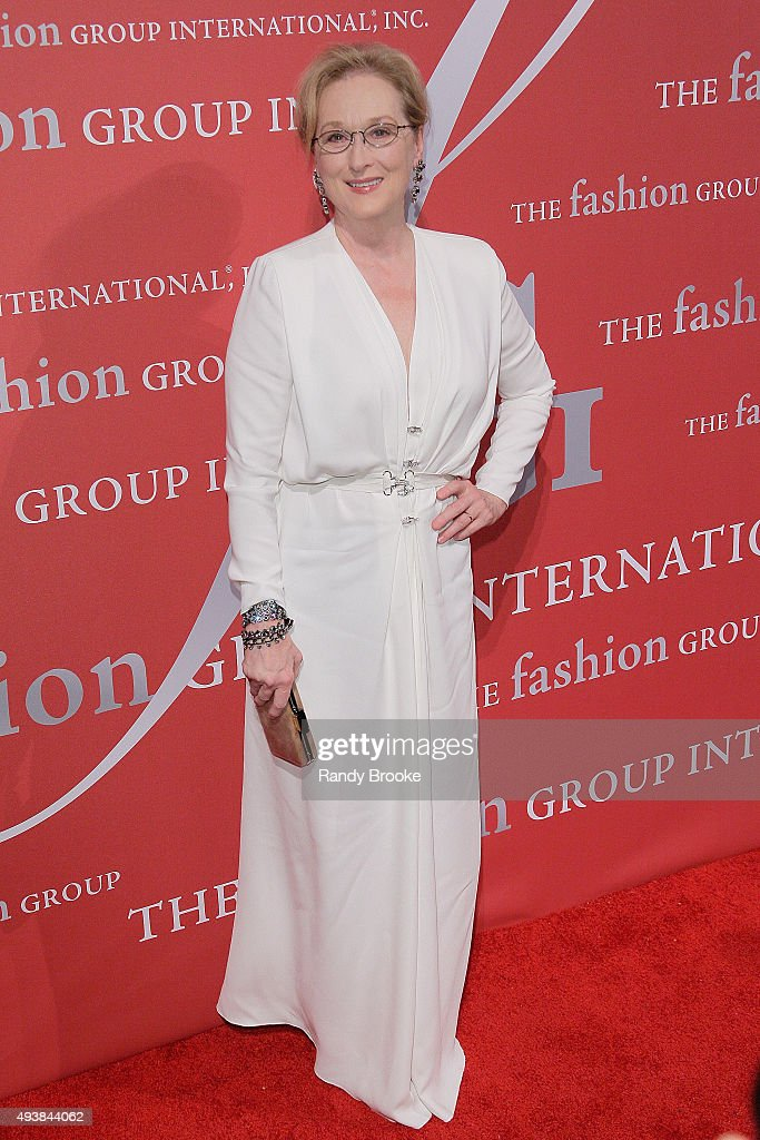 Meryl Streep attends the 2015 Fashion Group International Night Of Stars Gala at Cipriani Wall Street on October 22, 2015 in New York City.