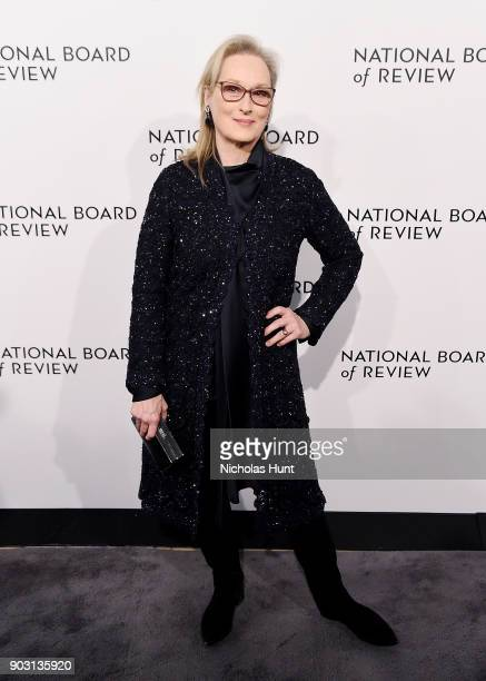 Meryl Streep attends the 2018 National Board Of Review Awards Gala at Cipriani 42nd Street on January 9 2018 in New York City