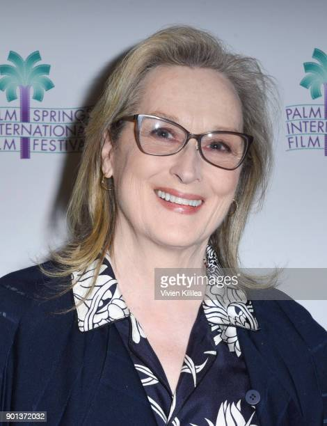 Meryl Streep attends the 29th Annual Palm Springs International Film Festival Opening Night Screening of 'The Post' at Palm Springs High School on...