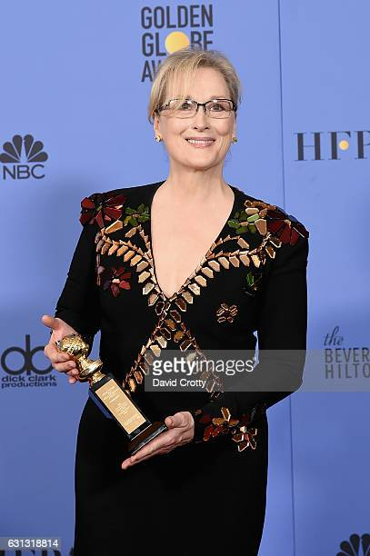 Meryl Streep attends the 74th Annual Golden Globe Awards - Press Room at The Beverly Hilton Hotel on January 8, 2017 in Beverly Hills, California.