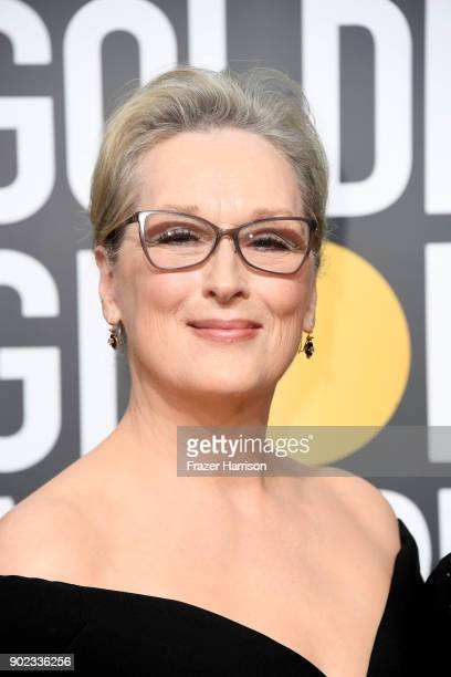 Meryl Streep attends The 75th Annual Golden Globe Awards at The Beverly Hilton Hotel on January 7 2018 in Beverly Hills California
