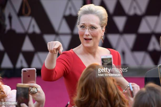 Meryl Streep attends the 90th Annual Academy Awards at Hollywood Highland Center on March 4 2018 in Hollywood California