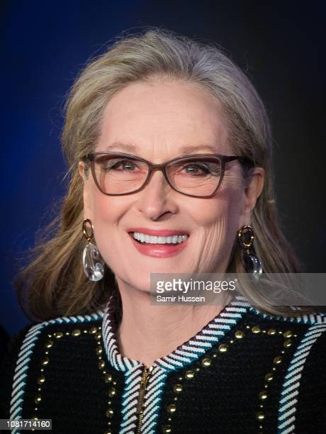 Meryl Streep attends the European Premiere of Mary Poppins Returns at Royal Albert Hall on December 12 2018 in London England