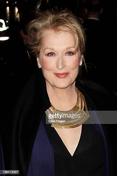 Meryl Streep attends the European Premiere of The Iron Lady at The BFI Southbank on January 4 2012 in London United Kingdom