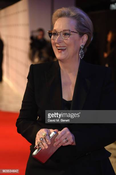 Meryl Streep attends the European Premiere of 'The Post' at Odeon Leicester Square on January 10 2018 in London England