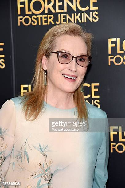 Meryl Streep attends the Florence Foster Jenkins New York premiere at AMC Loews Lincoln Square 13 theater on August 9 2016 in New York City