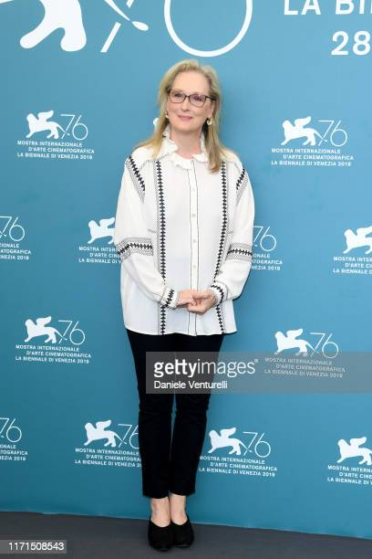 Meryl Streep attends The Laundromat photocall during the 76th Venice Film Festival at Sala Grande on September 01 2019 in Venice Italy