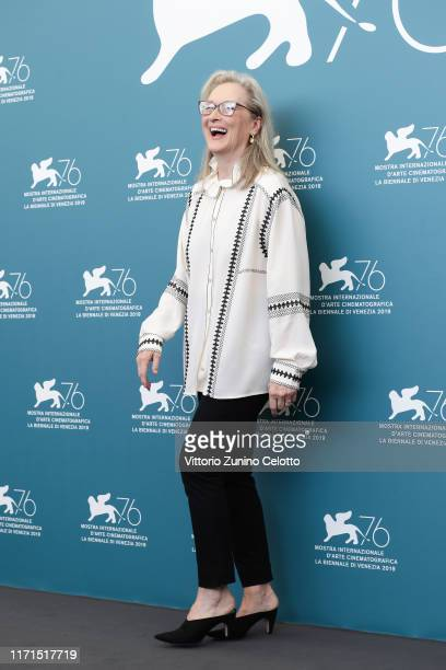 """Meryl Streep attends """"The Laundromat"""" photocall during the 76th Venice Film Festival at Sala Grande on September 01, 2019 in Venice, Italy."""