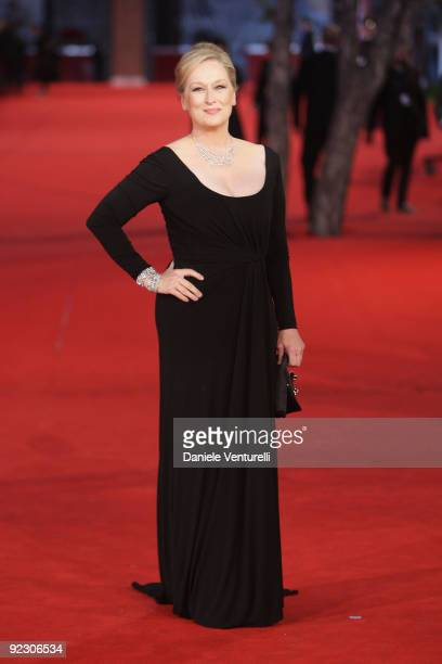 Meryl Streep attends the Official Awards Ceremony during Day 9 of the 4th International Rome Film Festival held at the Auditorium Parco della Musica...