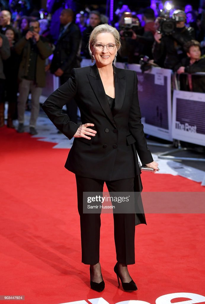 Meryl Streep attends 'The Post' European Premeire at Odeon Leicester Square on January 10, 2018 in London, England.