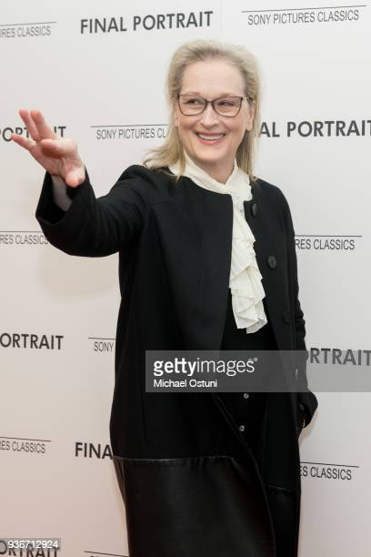 Meryl Streep attends the screening of Final Portrait at Guggenheim Museum on March 22, 2018 in New York City.