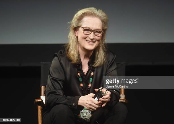 Meryl Streep attends the Tracey Ullman's Show Season 3 Premiere for the 2018 Tribeca TV Festival at Spring Studios on September 21 2018 in New York...