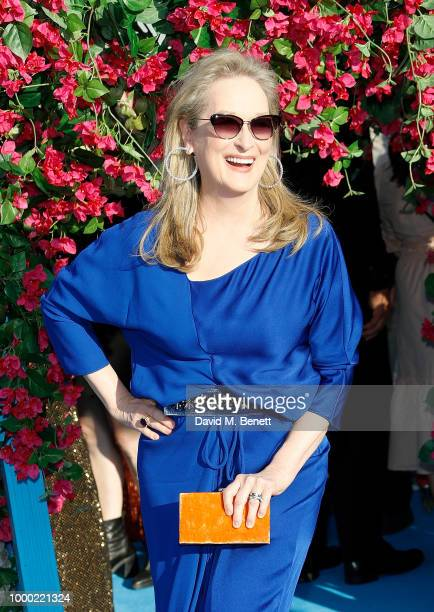 Meryl Streep attends the UK Premiere of 'Mamma Mia Here We Go Again' at the Eventim Apollo on July 16 2018 in London England