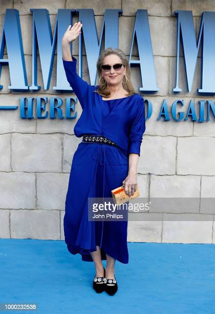 Meryl Streep attends the UK Premiere of 'Mamma Mia Here We Go Again' at Eventim Apollo on July 16 2018 in London England