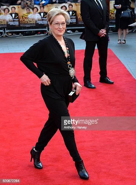 "Meryl Streep attends the World film premiere of ""Florence Foster Jenkins"" at Odeon Leicester Square on April 12, 2016 in London, England."