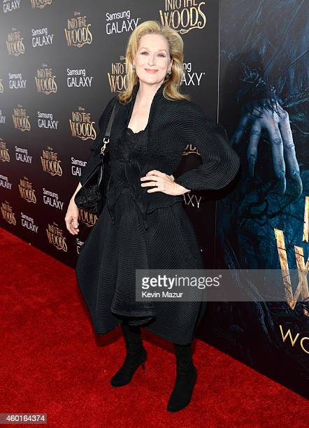 Meryl Streep attends the world premiere of Into the Woods at the Ziegfeld Theatre on December 8 2014 in New York City The stars came out for the...